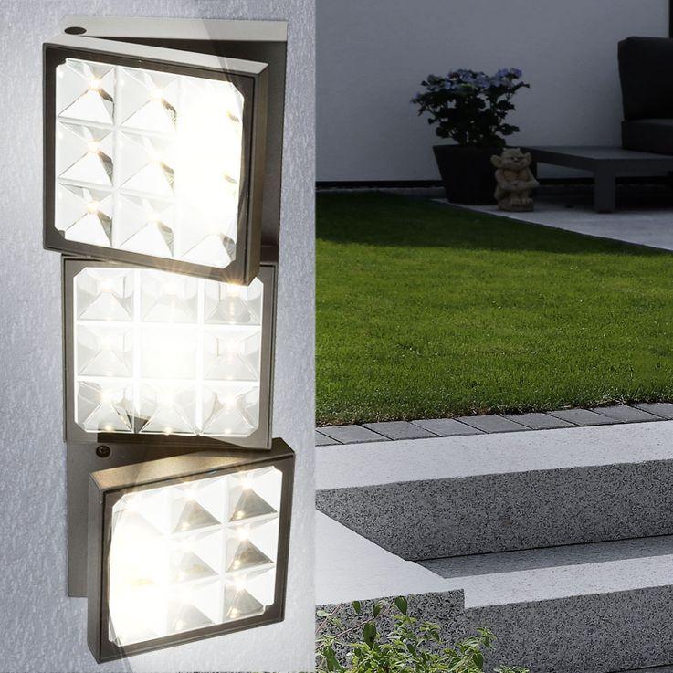 Design LED Steh- und Wandleuchte aus Aluminium Globo BOLTON  – Bild 5