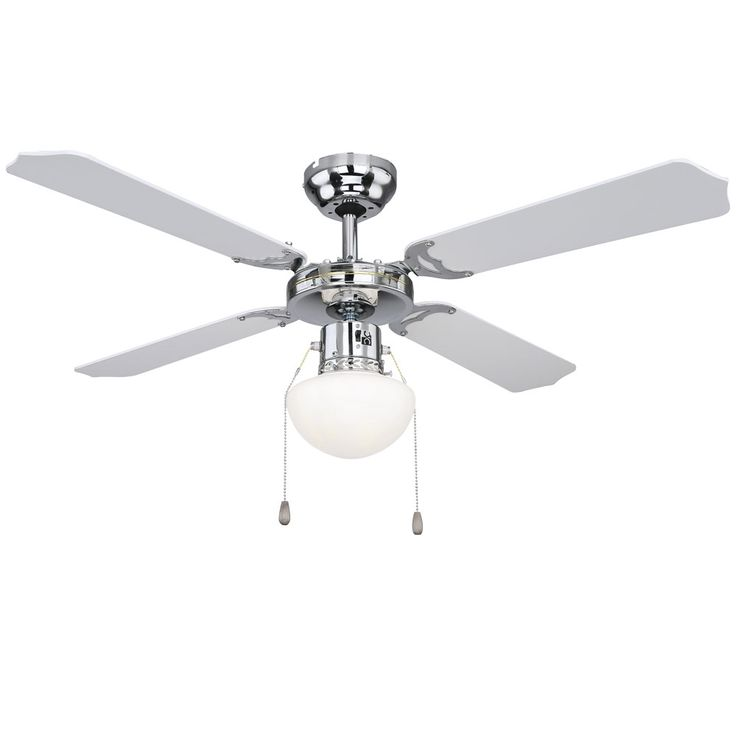 Ceiling fan chrome living room fan cool warm switch glass lamp  Globo 0309CSW – Bild 7