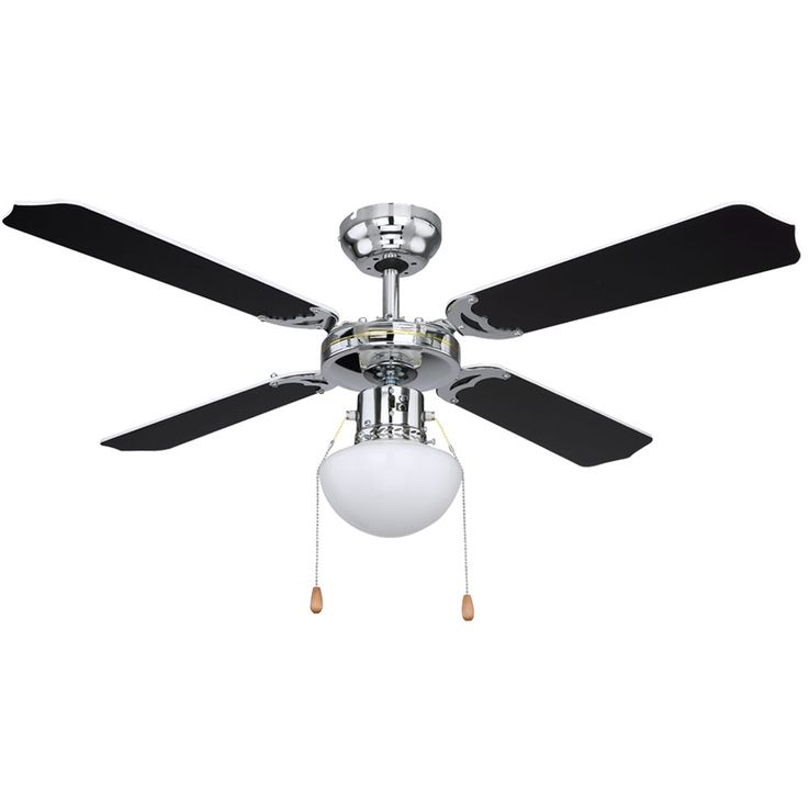 Ceiling fan chrome living room fan cool warm switch glass lamp  Globo 0309CSW – Bild 8