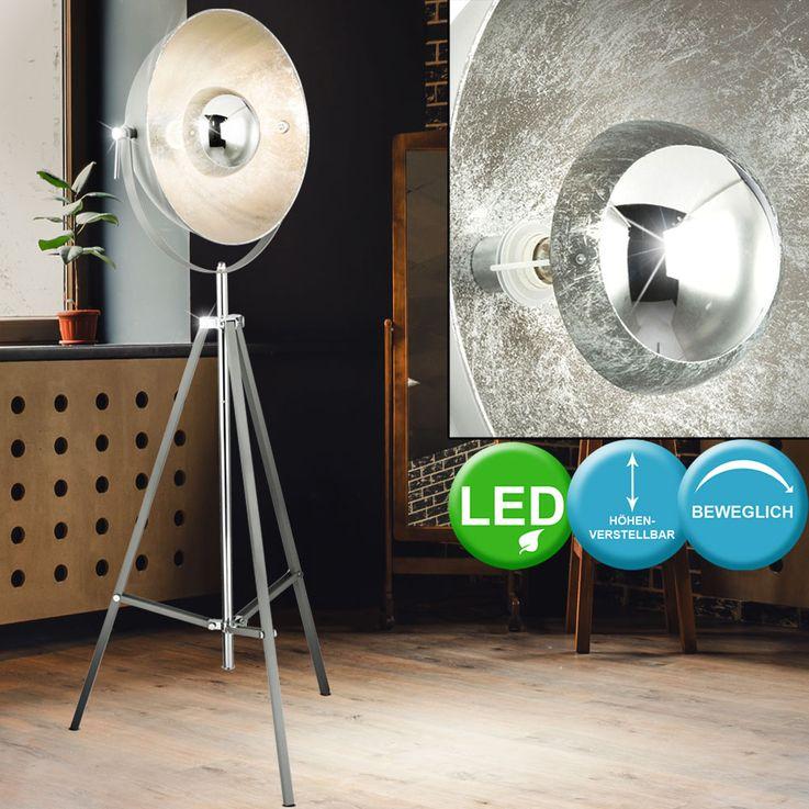 LED tripod floor lamps, height adjustable, swiveling spot – Bild 4