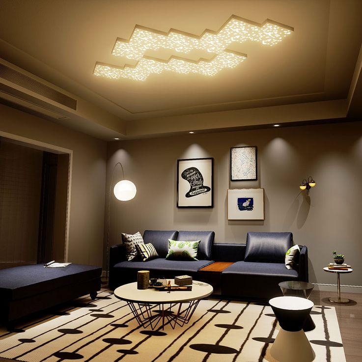LED Deckenleuchte, schwarz, Sternenhimmeleffekt, Länge 30 cm – Bild 8