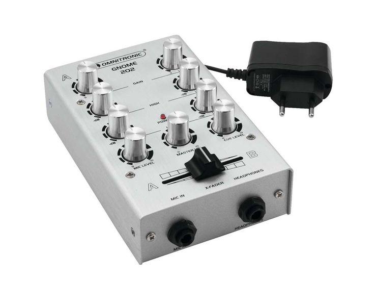 Mini Mischpult DJ PA Mixer 2-Kanal Controller Disco Party Mischer EQ silber – Bild 2