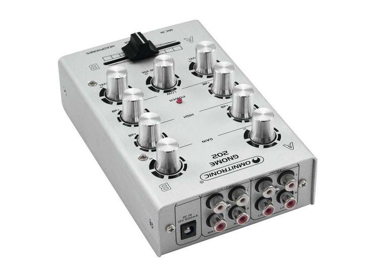 Mini Mischpult DJ PA Mixer 2-Kanal Controller Disco Party Mischer EQ silber – Bild 3