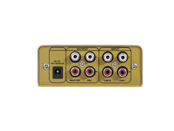 DJ PA Mixer 2-Kanal mini Mischpult Controller Disco Party Mischer EQ GOLD – Bild 5