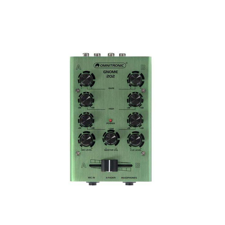 OMNITRONIC GNOME-202 Mini-Mixer grün – Bild 1