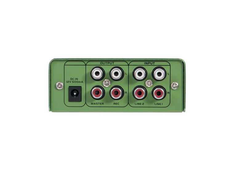 DJ PA Mixer 2-Kanal mini Mischpult Controller Disco Party Mischer EQ grün – Bild 5