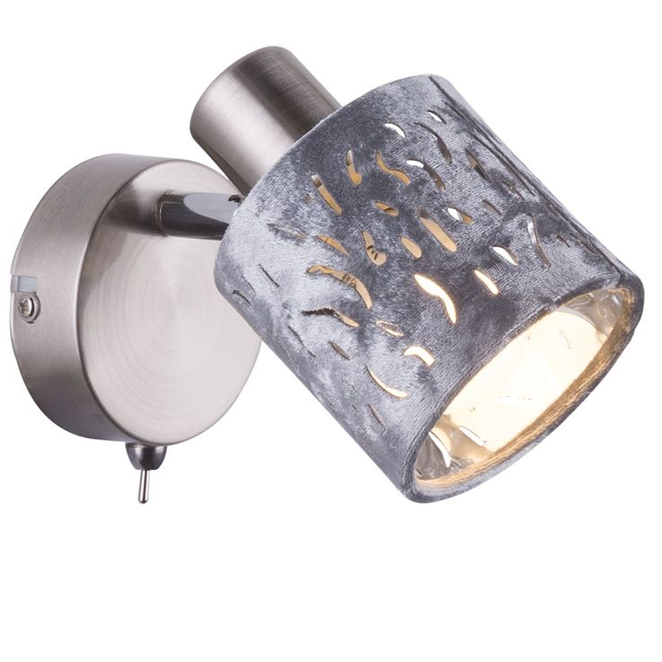LED Wandleuchte, Dekorstanzung, silber Chrom, Samt, ALYS  – Bild 1