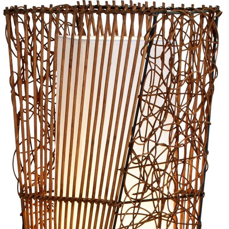Design Stand Light Living Room Rattan Wood Ceiling Floodlight Textile Lamp  Honsel  Leuchten 40070224 – Bild 4
