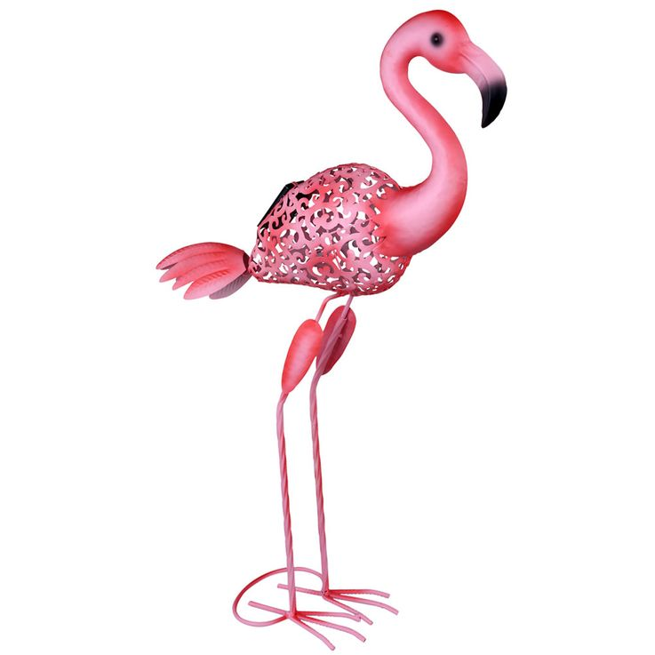LED Außen Solar Steh Lampe Stand Deko Flamingo Vogel Grundstück Beet Lampe pink Globo 33202 – Bild 1