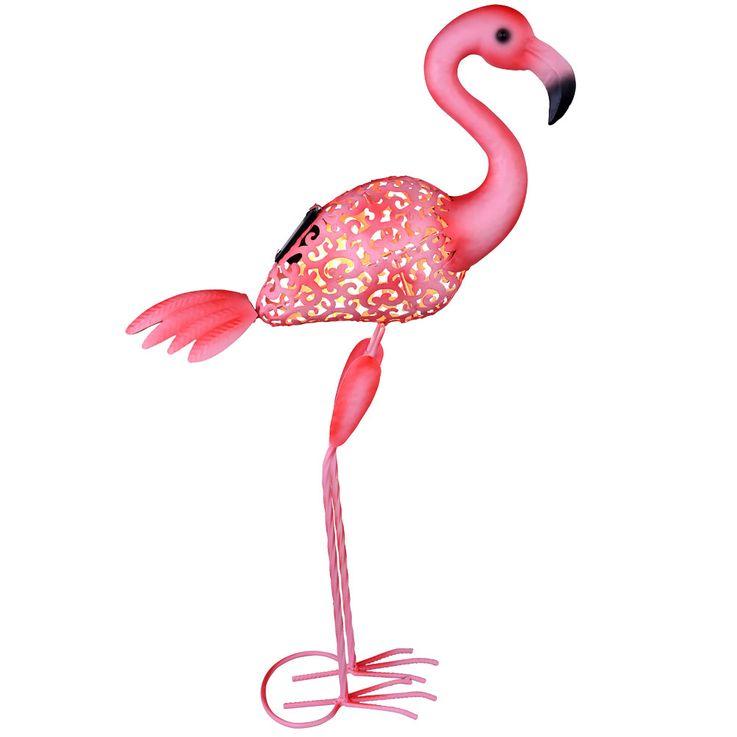 LED Außen Solar Steh Lampe Stand Deko Flamingo Vogel Grundstück Beet Lampe pink Globo 33202 – Bild 9