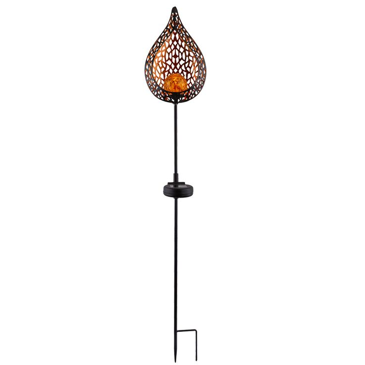 LED solar light, flame design, height 90 cm – Bild 1