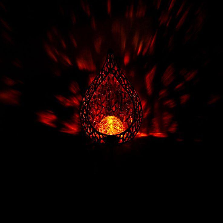 Lampe solaire à LED, design flamme, hauteur 90 cm – Bild 4