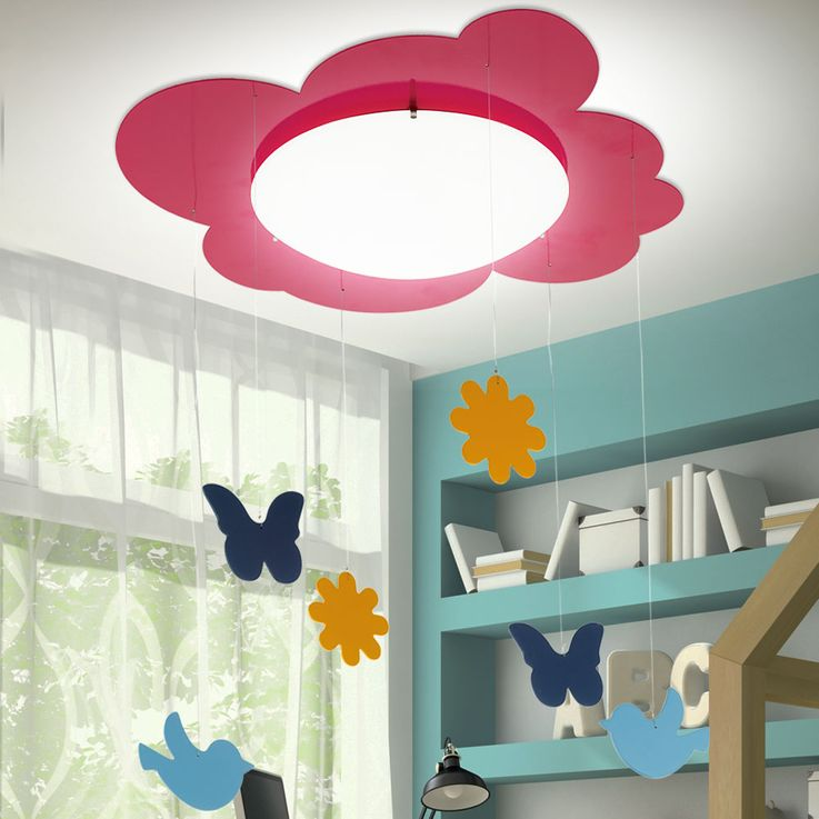 Kids Ceiling Hanging Lamp Girl Game Room Lighting Figurines Curtain Lamp Pink  Eglo 94143 – Bild 3