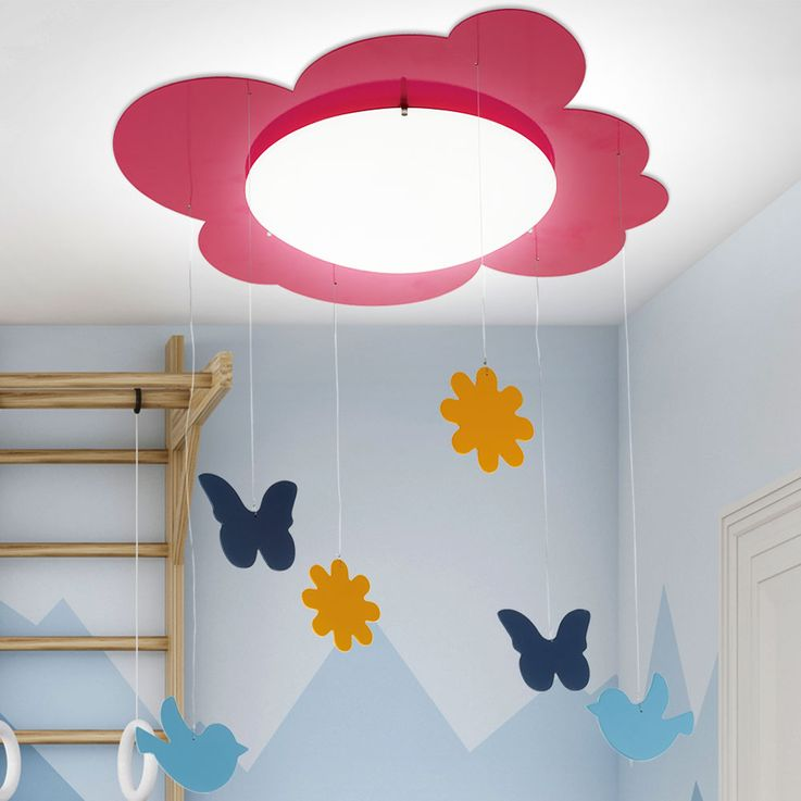 Kids Ceiling Hanging Lamp Girl Game Room Lighting Figurines Curtain Lamp Pink  Eglo 94143 – Bild 2