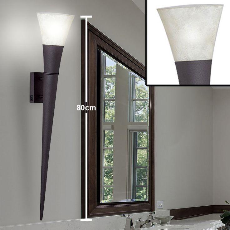 2x appliques LED, lampe de poche, couleur rouille, hauteur 80 cm, TORCIA – Bild 3