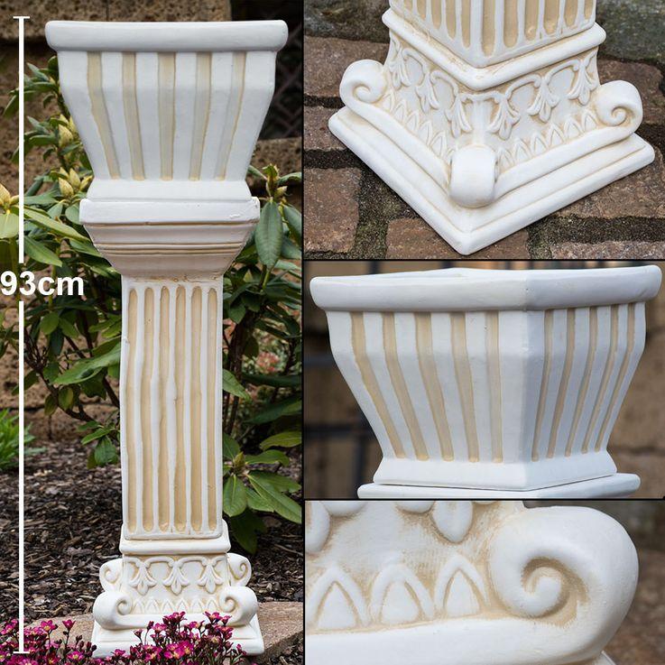 Flower Pillar Ceramic Terraces Plot Decoration Plants Shell Garden Bucket  Harms 301435 – Bild 2