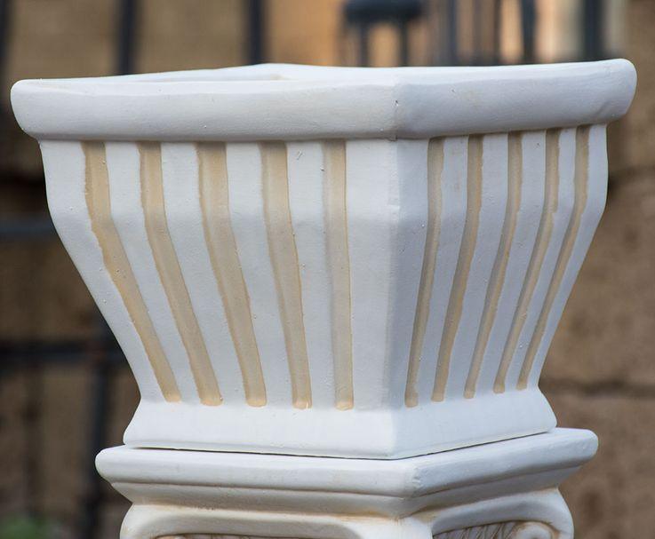Flower Pillar Ceramic Terraces Plot Decoration Plants Shell Garden Bucket  Harms 301435 – Bild 3