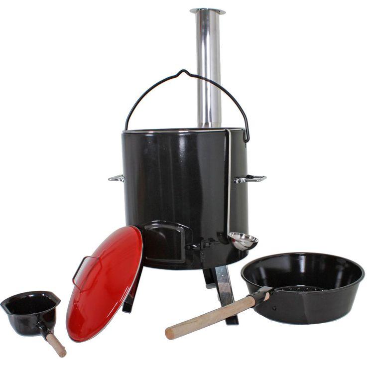 Casserole Pot Goulash Cannon Party 14 L Fireplace Pan Kettle Field Kitchen Charcoal  Harms 504877 – Bild 1