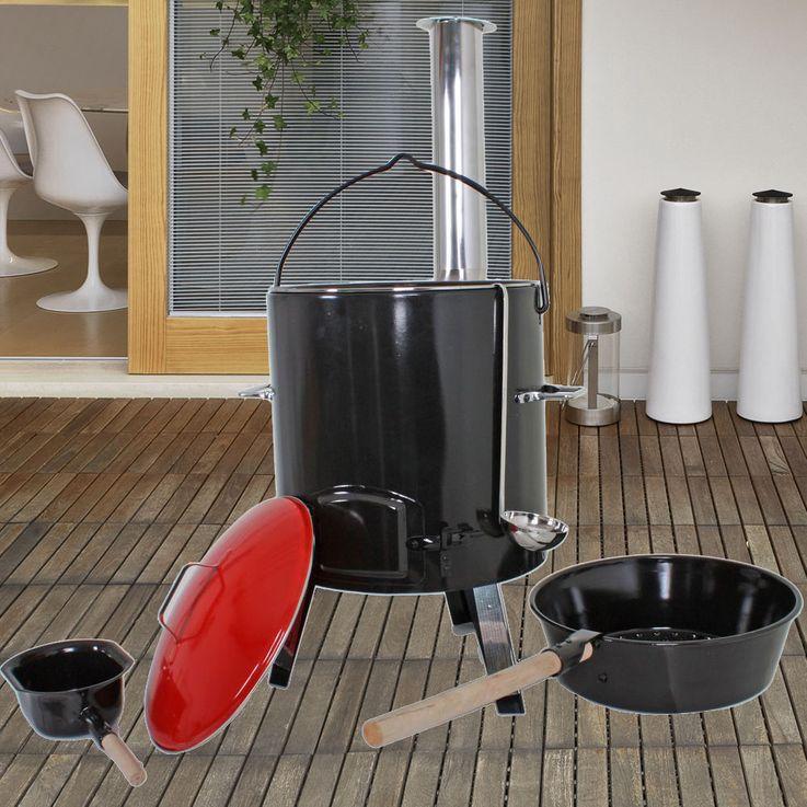 Casserole Pot Goulash Cannon Party 14 L Fireplace Pan Kettle Field Kitchen Charcoal  Harms 504877 – Bild 2