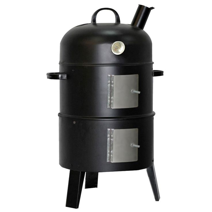 Wood Coal Garden Grill Smoke Oven Smoker Party Meat Fish Barbecue Outdoor Harms 504016 – Bild 1