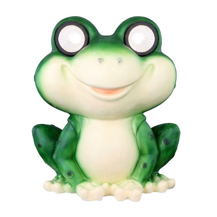 LED outdoor solar lamp frog garden decoration animal lighting figure stand light green  Globo 33095 – Bild 4