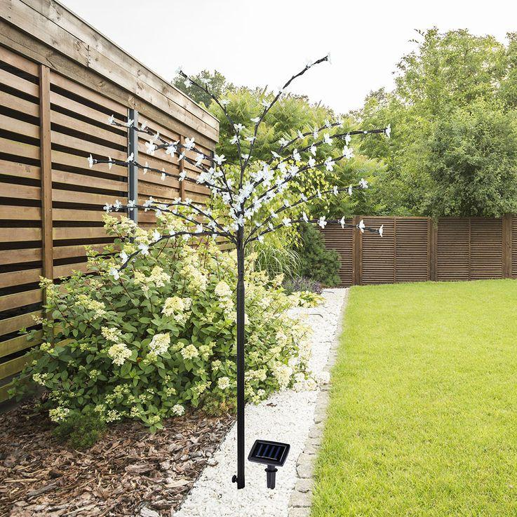 SOLAR OUTDOOR 128x LED DECO tree standing lamp yard XMAS terraces cherry blossoms light  Globo 39137 – Bild 3