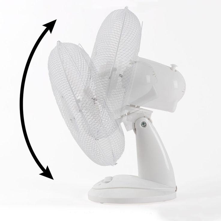 Table fan white oscillating air cooler wind machine angle adjustable Ø 30 cm  Bomann VL 1138 – Bild 5