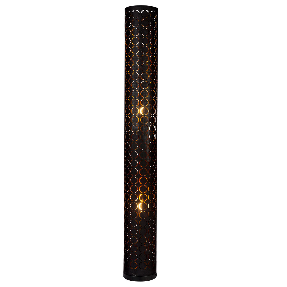 Led Floor Lamp Ring Punches Black Gold Height 119cm Harald Etc Shop