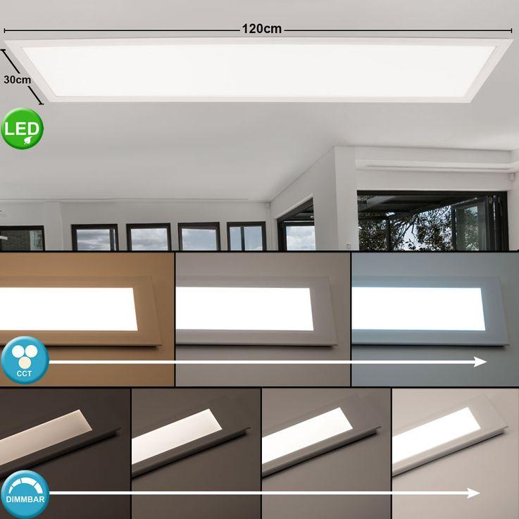 40 Watt LED Panel Einbau Decken Leuchte dimmbar APP Steuerung CCT Schaltung Lampe Fernbedienung – Bild 3