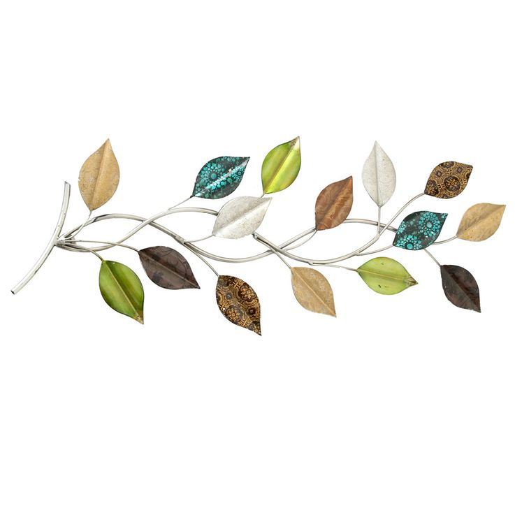 Wall object decoration art picture living room curtain branch branch leaves multicolored  Boltze 3847400 – Bild 1