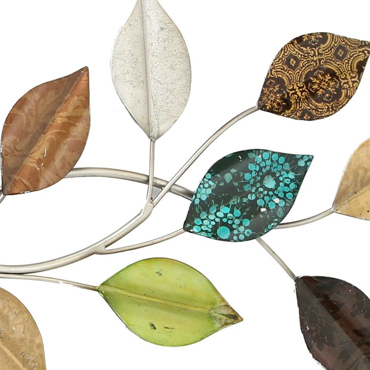 Wall object decoration art picture living room curtain branch branch leaves multicolored  Boltze 3847400 – Bild 3