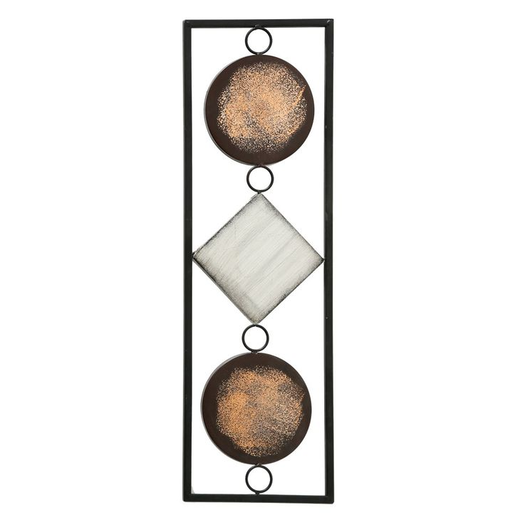 Luxury wall object living dining room picture picture decoration art drapery brown beige round  Boltze 2698200 – Bild 1