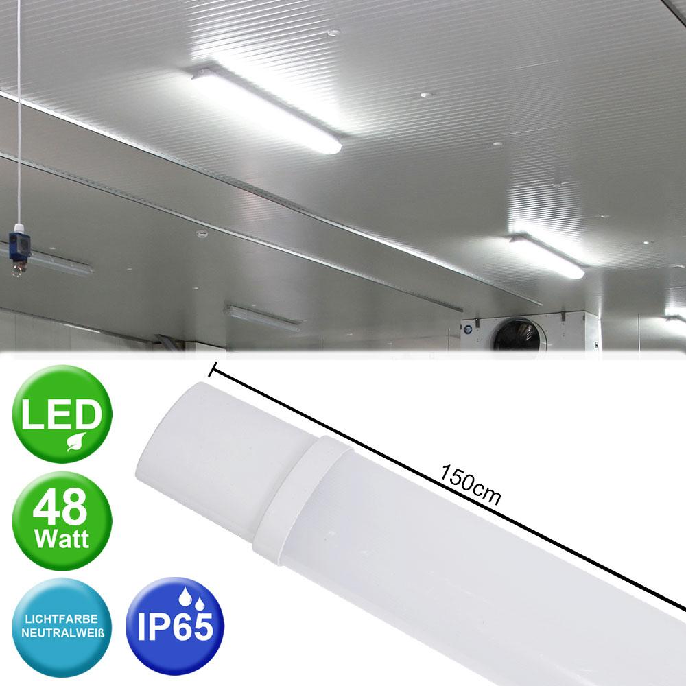 LED Wannen Decken Lampe Industrie Hallen Beleuchtung Feucht Raum Keller Leuchte