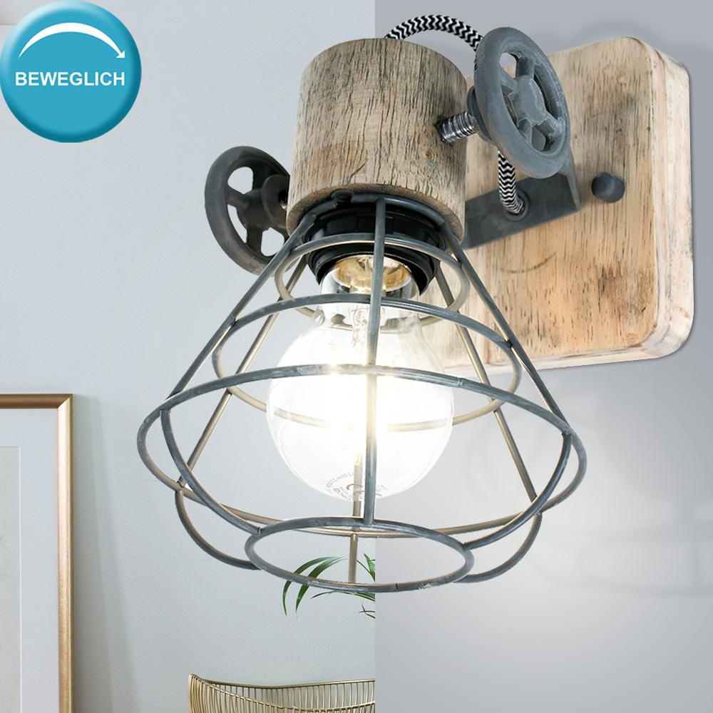 Beton Optik Schreib Tisch Lampe Leuchte Käfig Strahler Spot beweglich Vintage
