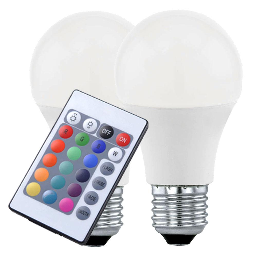 Of With 7 E27 Bulbs Set 5 Led Rgb Control 2 Watt Remote QthrCsd