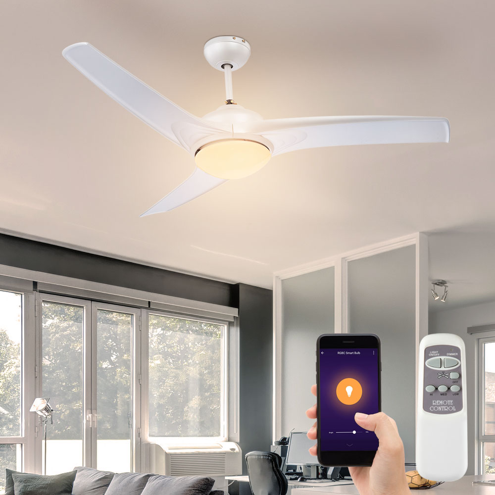 Bundle Smart Home Ceiling Fan Remote Control Alexa Google App Lamp Dimmable Incl Rgb Led Illuminant Etc Shop Lamps Furniture Technology Household All From One Source Etc Shop