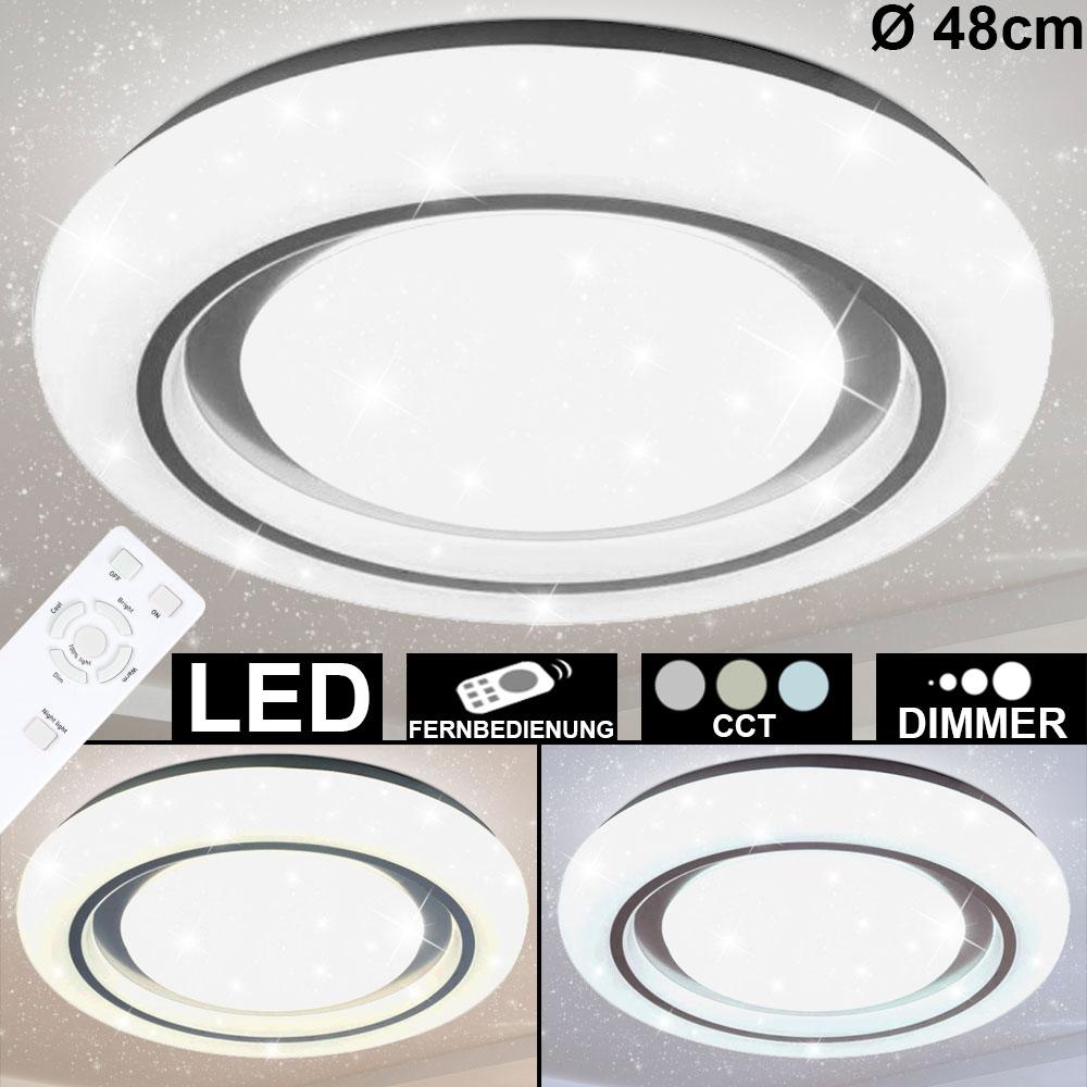 RGB LED Tages-Licht Decken Lampe DIMMER Fernbedienung Sternen Effekt CCT Leuchte