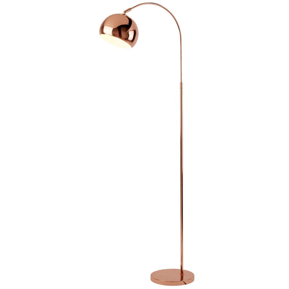 Bogenleuchte Kupfer Lampenschirm Verstellbar H 140 Cm Etc Shop