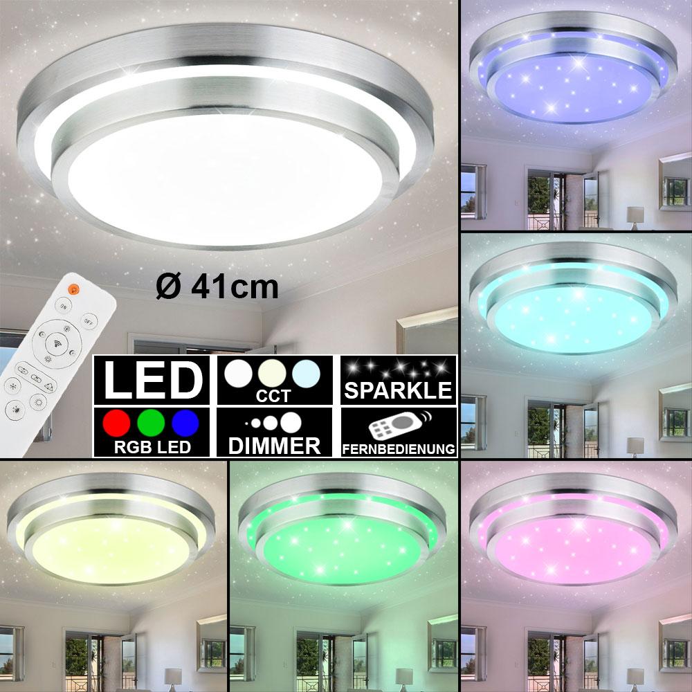 RGB LED Decken Lampe dimmbar Tageslicht Leuchte