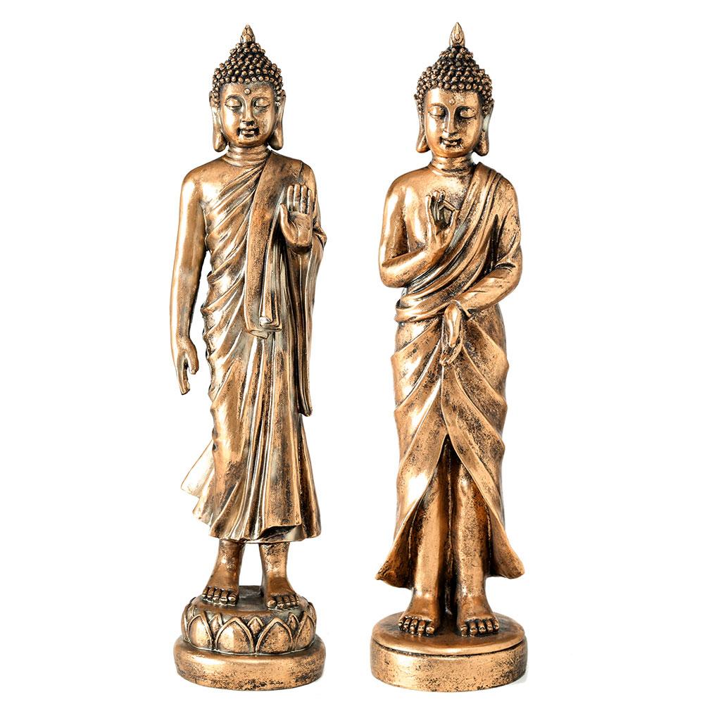Gartendekoration - 2er Set Figuren, verschiedene Buddha Designs, Höhe 82 cm  - Onlineshop ETC Shop