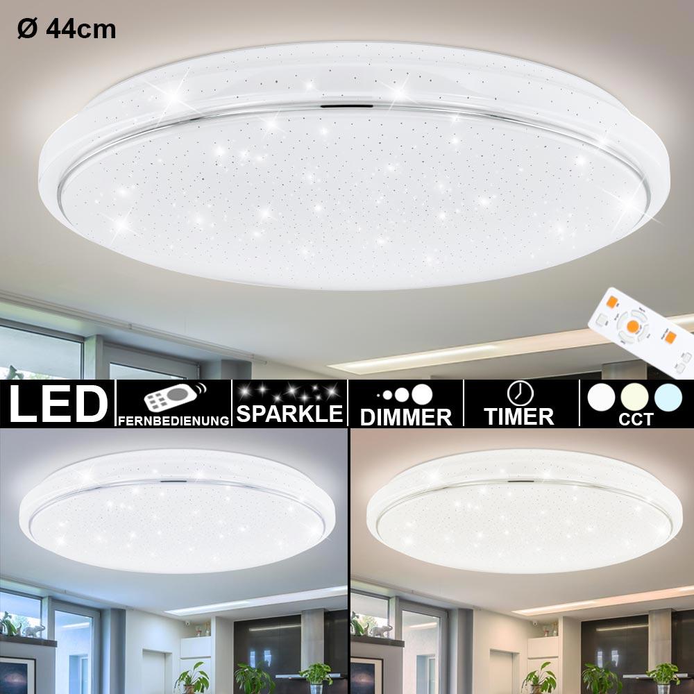 Detalles de LED Luz Del Dia Lámpara de Techo Regulador Temporizador Mando  Estrellas Efecto