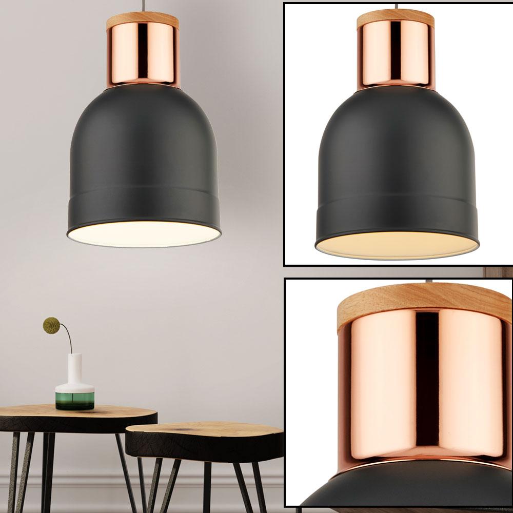 led design hänge leuchte kupfer decken strahler grau matt