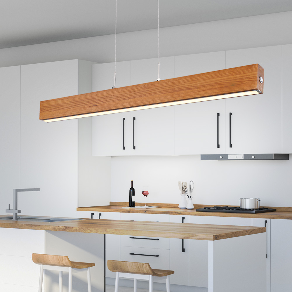 LED Pendant Hanging Light Dining Room Touch Dimmer Lighting Wood Kitchen  Lamp Globo 9 9   ETC Shop lamps, furniture, technology, household.  All ...