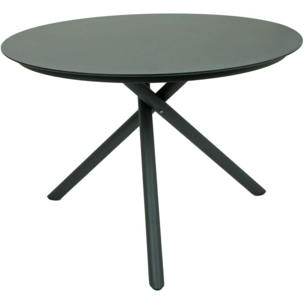 Gartentische - Garten Tisch, Edelstahl, dunkelgrau, Ø110cm, KENDRA  - Onlineshop ETC Shop