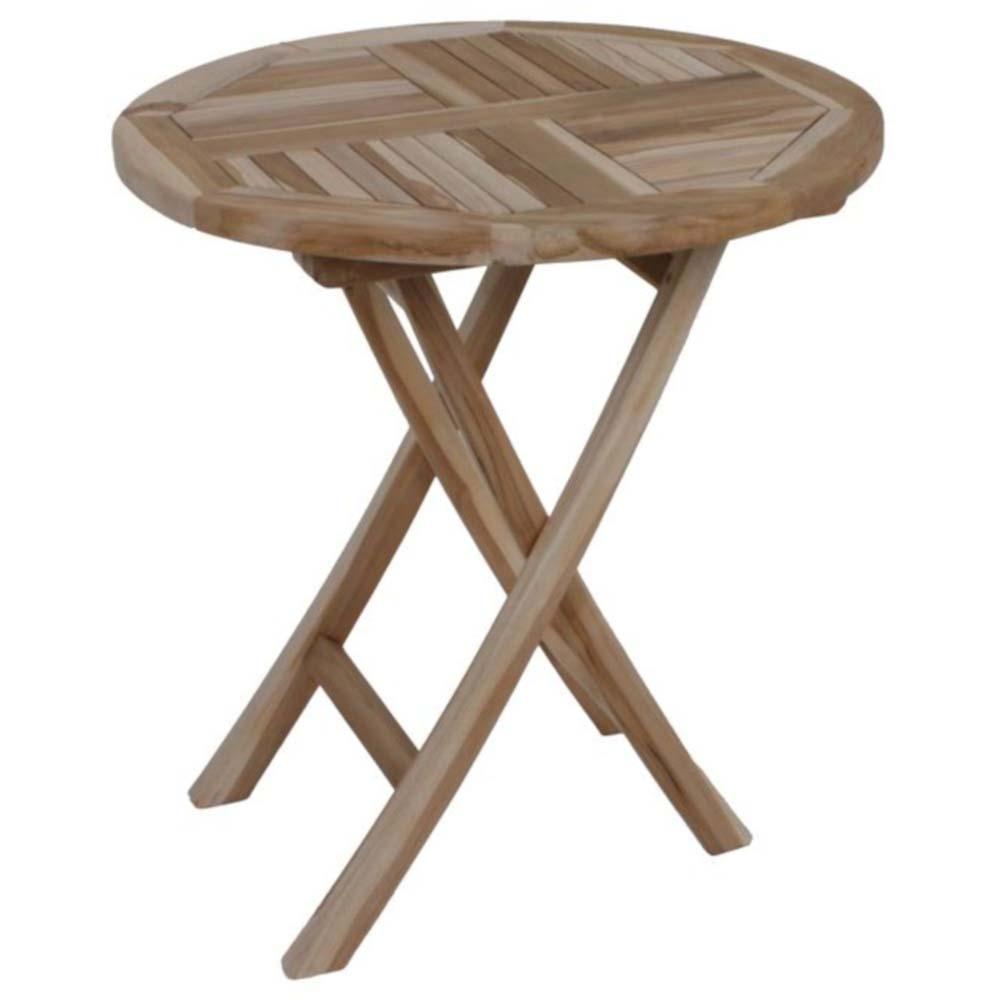 Gartentische - Tisch JAVA, klappbar, rund Ø70, Teak  - Onlineshop ETC Shop