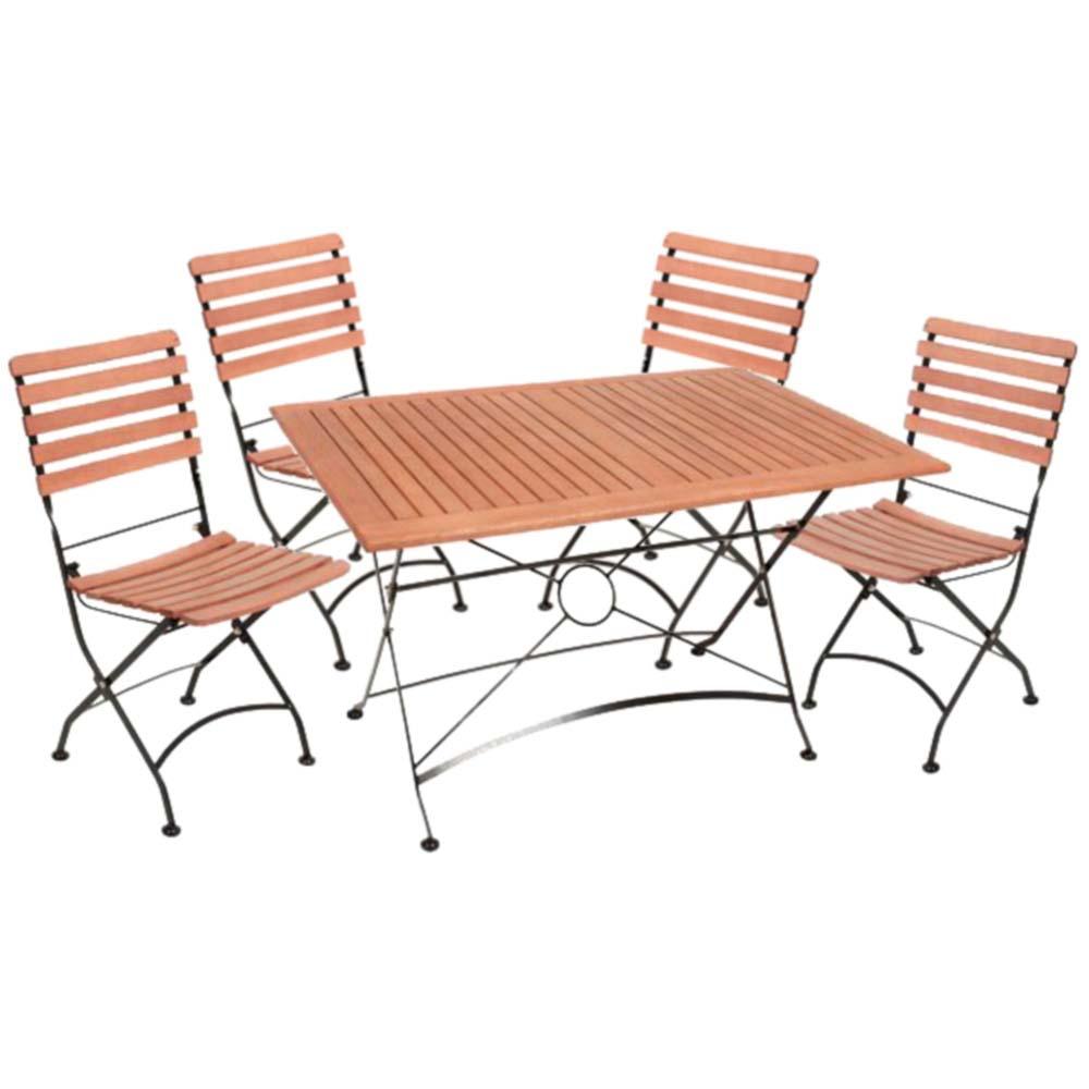 Gartenmöbel Sets - 5 Teilige Tischgruppe, Eukalyptus, Harms WIEN  - Onlineshop ETC Shop