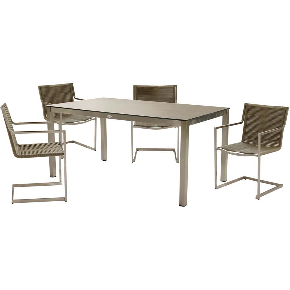 Gartenmöbel Sets - 5 Teilige Tischgruppe, Grau, Harms SIENNA  - Onlineshop ETC Shop
