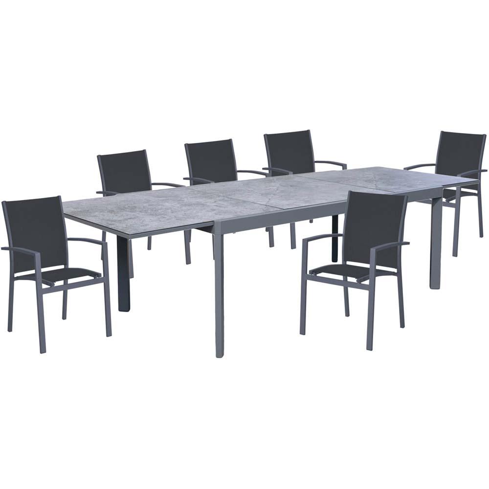 Gartenmöbel Sets - Tischgruppe NEREA, 7 teilig, Aluminium, Keramik, graphit  - Onlineshop ETC Shop