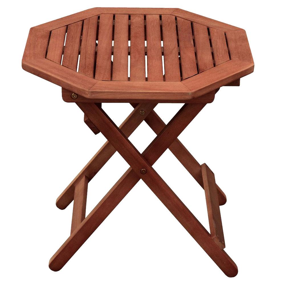 Gartentische - Tisch, Eukalyptus, achteckig, braun H 50 cm, MAYFIELD  - Onlineshop ETC Shop