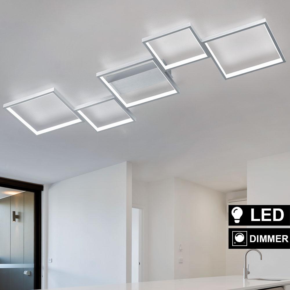 Design LED Decken Lampe Wohn Zimmer ALU Beleuchtung Flur Leuchte ...